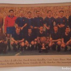 Coleccionismo deportivo: FC BARCELONA POSTAL EQUIPO 1950-1960 - ALINEACION - ESTADIO - STADIUM - STADE. Lote 226399130