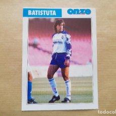 Collezionismo sportivo: POSTAL BATISTUTA - FIORENTINA, ROMA, INTER, ARGENTINA (FICHA ONZE MONDIAL). Lote 227994088