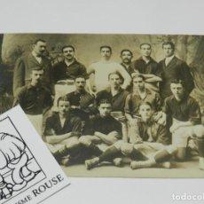 Coleccionismo deportivo: FC BARCELONA - POSTAL FOTOGRÁFICA 1ER TEAM 1909 - 10, HANS GAMPER, ORIGINAL. Lote 228122850