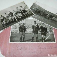Coleccionismo deportivo: LOTE DE 3 POSTALES FINAL DE LA COPA DEL GENERALISIMO 1944 ATH BILBAO 2 - VALENCIA FC 0. Lote 228127945