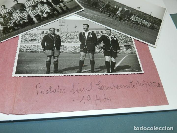 Coleccionismo deportivo: LOTE DE 3 POSTALES FINAL DE LA COPA DEL GENERALISIMO 1944 ATH BILBAO 2 - VALENCIA FC 0 - Foto 2 - 228127945