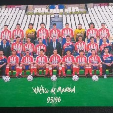 Collectionnisme sportif: POSTAL AT.MADRID.95/96.. Lote 229174325