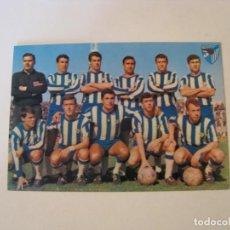 Coleccionismo deportivo: POSTAL DE C. D. MALAGA. ED. BERGAS. TEMPORADA 1966-67. ESCRITA.. Lote 231023555