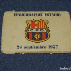 Coleccionismo deportivo: FC BARCELONA - INAUGURACIÓN ESTADIO 1957 COLECCIÓN DE 10 POSTALES, SAMITIER, KUBALA. Lote 231353140