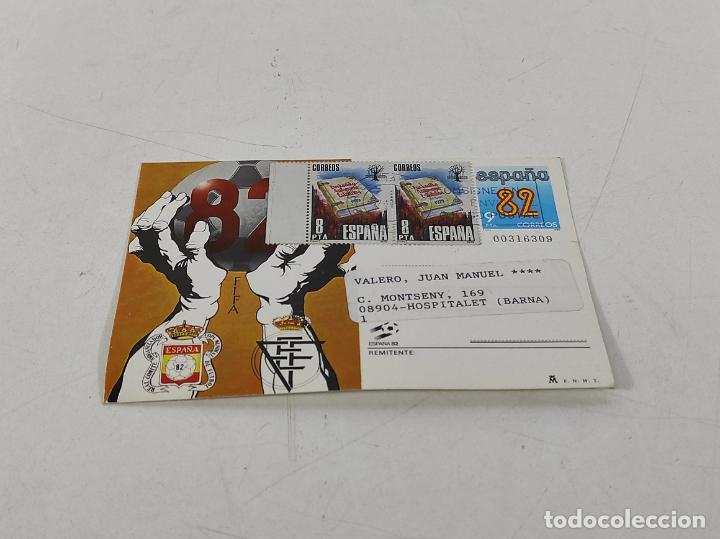Coleccionismo deportivo: Postal España 82 - Felicitación y Participación de la Lotería - Filatelia L. Monge - Foto 4 - 231445915