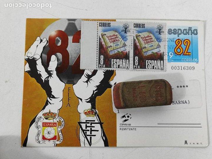 Coleccionismo deportivo: Postal España 82 - Felicitación y Participación de la Lotería - Filatelia L. Monge - Foto 5 - 231445915
