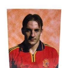 Collectionnisme sportif: ALBERT CHAPI FERRER POSTAL OFICIAL SELECCIÓN ESPAÑOLA ESPAÑA FC BARCELONA EUROCOPA EURO 2000. Lote 232577815