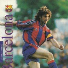 Coleccionismo deportivo: POSTAL DEL F.C.BARCELONA JOSE MARI BAKERO. Lote 233383325
