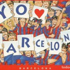 Coleccionismo deportivo: POSTAL DEL F.C.BARCELONA YO AMO AL BARCELONA. Lote 233498910