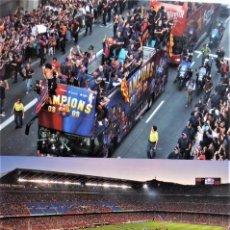 Coleccionismo deportivo: POSTAL DEL F.C.BARCELONA CHAMPIONS 2.008 - 2.009. Lote 233502840
