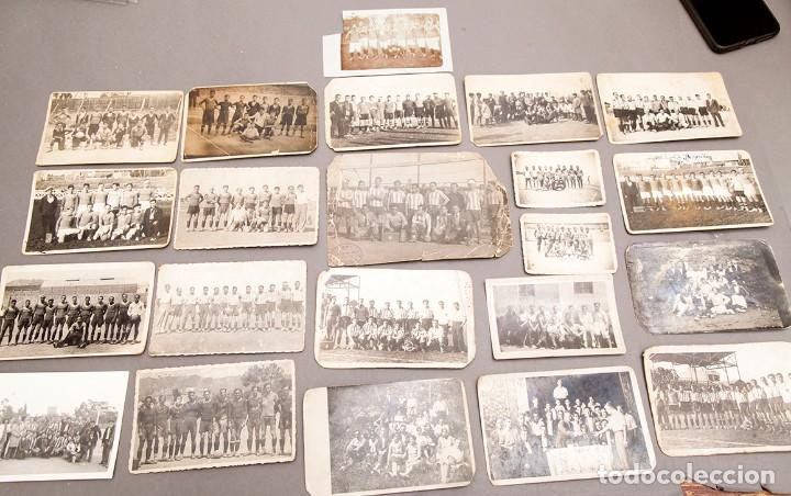 22 POSTALES FOTOGRÁFICAS FUTBOL - AÑOS 30 - CATALUÑA (Coleccionismo Deportivo - Postales de Deportes - Fútbol)