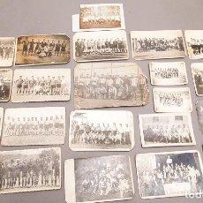Coleccionismo deportivo: 22 POSTALES FOTOGRÁFICAS FUTBOL - AÑOS 30 - CATALUÑA. Lote 233510515