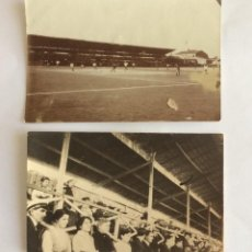 Coleccionismo deportivo: 2 POSTAL CAMPO FÚTBOL. ANTIGUO ESTADIO Y GRADAS. TARRASA, TERRASSA. BARCELONA.. Lote 234936915