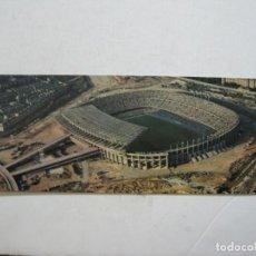 Coleccionismo deportivo: FC BARCELONA-VISTA AEREA DEL ESTADIO DEL C.F. BARCELONA-POSTAL DOBLE-FOTO T.A.F.-VER FOTOS-(K-1679). Lote 235178215