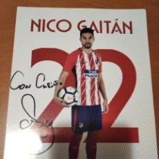 Collectionnisme sportif: POSTAL CON AUTOGRAFO DE NICO GAITAN DE ATLETICO MADRID - GOLY. Lote 235329540