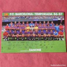 Coleccionismo deportivo: FUTBOL CLUB BARCELONA - PLANTILLA DEL BARÇA TEMPORADA 86 - 87 CON FIRMAS - 12 X 18. Lote 235716390