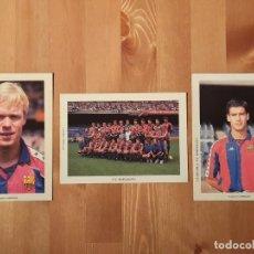 Coleccionismo deportivo: LOTE DE 3 POSTALES DEL F.C. BARCELONA GUARDIOLA, KOEMAN Y EL EQUIPO COMPLETO 1992. Lote 236469315