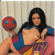 Coleccionismo deportivo: POSTAL ERÓTICA F.C.B. Lote 237412730