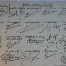 Coleccionismo deportivo: AJAX 70/71 CON 20 AUTÓGRAFOS. Lote 238329690