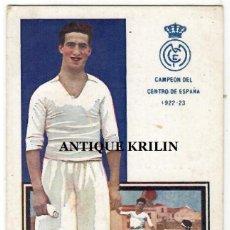 Coleccionismo deportivo: JUGADORES DE FOOT-BALL SERIE D Nº 9 MONJARDIN / REAL MADRID / CHOCOLATES AMATLLER. Lote 238705365
