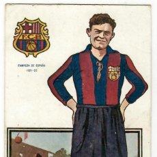 Coleccionismo deportivo: JUGADORES DE FOOT-BALL SERIE A Nº 10 JOSE PLANAS /F.C.BARCELONA / CHOCOLATES AMATLLER. Lote 238706255