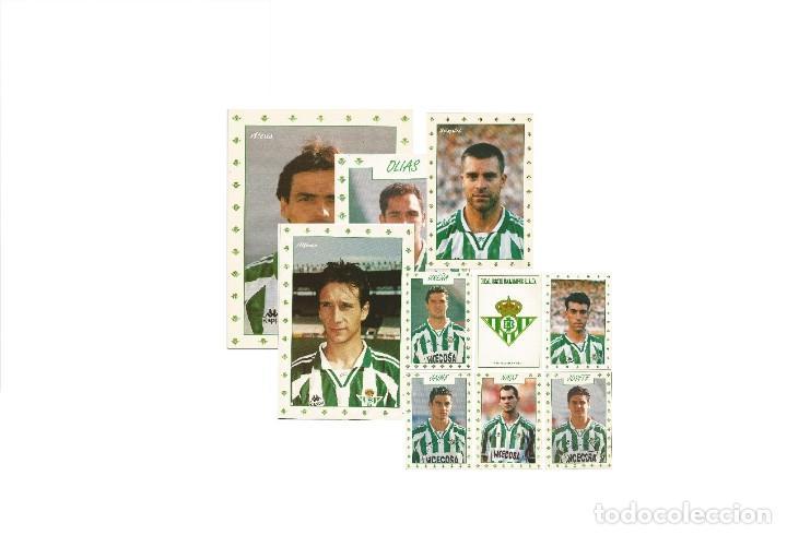 LOTE DE 50 POSTALES DEL REAL BETIS JUGADORES DE LOS AÑOS 90 (Coleccionismo Deportivo - Postales de Deportes - Fútbol)