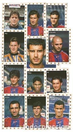 LOTE DE 25 POSTALES F. C. BARCELONA JUGADORES DE LOS AÑOS 90 (Coleccionismo Deportivo - Postales de Deportes - Fútbol)