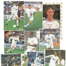 Coleccionismo deportivo: LOTE DE 25 POSTALES REAL MADRID JUGADORES DE LOS AÑOS 90. Lote 240533655