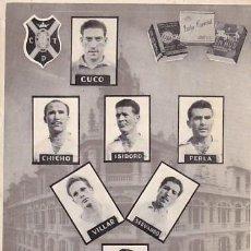 Coleccionismo deportivo: FOTOGRAFÍA TAMAÑO POSTAL SIN REVERSO CLUB DEPORTIVO TENERIFE AÑOS 50 CUCO, CHICHO, ISIDORO, PERLA,. Lote 243533555