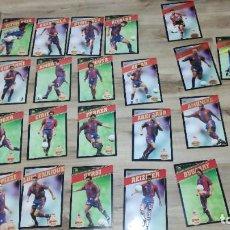 Coleccionismo deportivo: POSTALES GIGANTES BARÇA 97-98 - COLECCION DE 26 + CARPETA. Lote 244677105