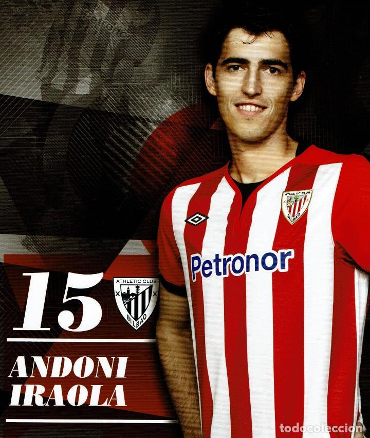 15 ANDONI IRAOLA ATHLETIC CLUB -TARJETA OFICIAL (Coleccionismo Deportivo - Postales de Deportes - Fútbol)