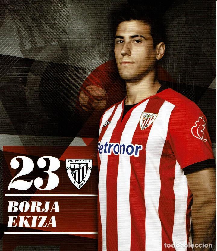 23 BORJA EKIZA ATHLETIC CLUB - TARJETA OFICIAL (Coleccionismo Deportivo - Postales de Deportes - Fútbol)