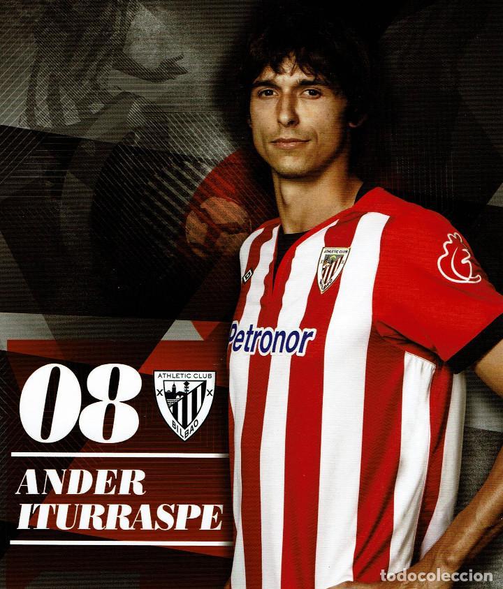 08 ANDER ITURRASPE ATHLETIC CLUB - TARJETA OFICIAL (Coleccionismo Deportivo - Postales de Deportes - Fútbol)