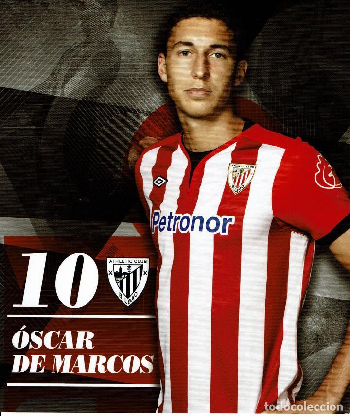 10 OSCAR DE MARCOS ATHLETIC CLUB - TARJETA OFICIAL (Coleccionismo Deportivo - Postales de Deportes - Fútbol)