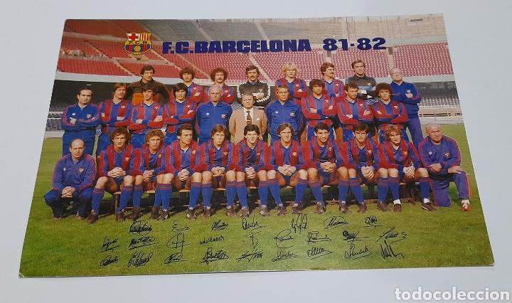 FOTO - POSTAL PLANTILLA F.C. BARCELONA 1981/ 82 . VER FOTOS. (Coleccionismo Deportivo - Postales de Deportes - Fútbol)