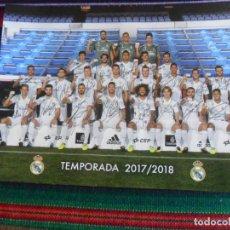 Coleccionismo deportivo: FOTO POSTAL REAL MADRID TEMPORADA 2017 2018 CAMPEÓN DE LA CHAMPIONS LEAGUE CON AUTÓGRAFOS.. Lote 246123475