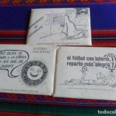 Coleccionismo deportivo: EL FÚTBOL CON LOTERÍA REPARTE MÁS ALEGRÍA COMPLETA. REGALO INSTANTÁNEAS DE AFICIONADOS Y ZODIACO.. Lote 246128905