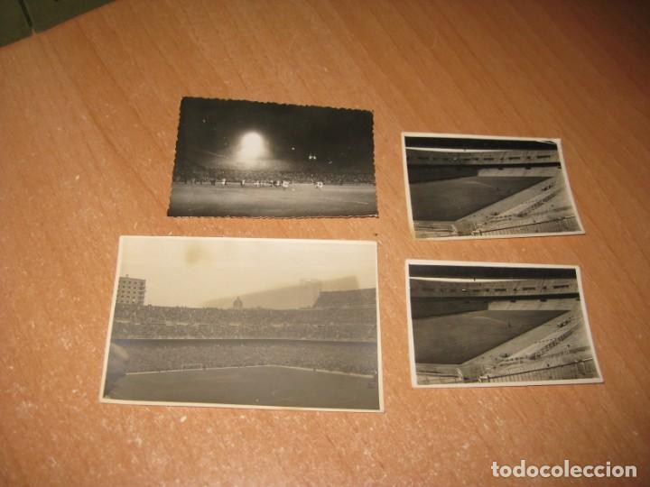 4 FOTOGRAFIAS DE CAMPOS DE FUTBOL (Coleccionismo Deportivo - Postales de Deportes - Fútbol)