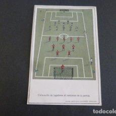 Coleccionismo deportivo: COMO SE JUEGA AL FUTBOL POSTAL HACIA 1920 ARTES GRAFICAS CAPARROS CORDOBA. Lote 247912710