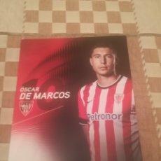 Coleccionismo deportivo: TARJETA OFICIAL OSCAR DE MARCOS.ATHLETIC CLUB BILBAO.. Lote 251269420
