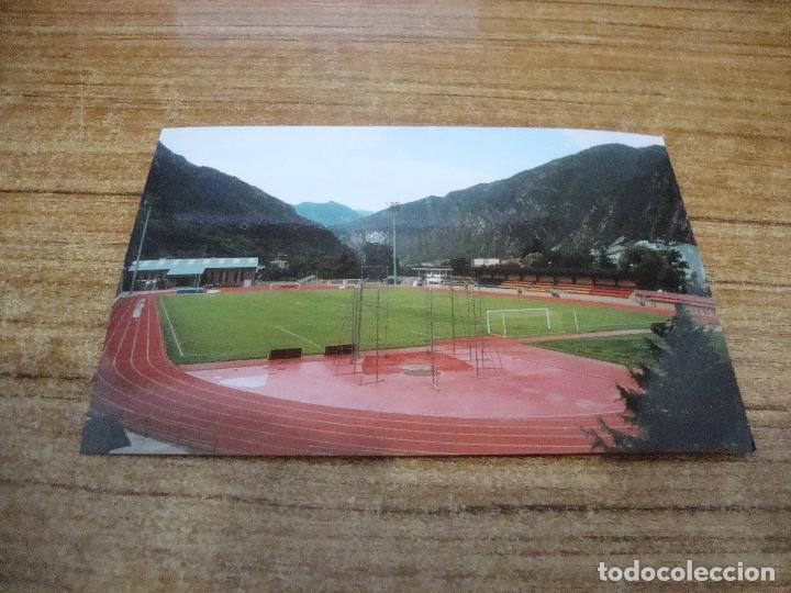POSTAL CAMPO DE FUTBOL ESTADI CUMUNAL F C ANDORRA ANDORRA LA VELLA SIN CIRCULAR (Coleccionismo Deportivo - Postales de Deportes - Fútbol)