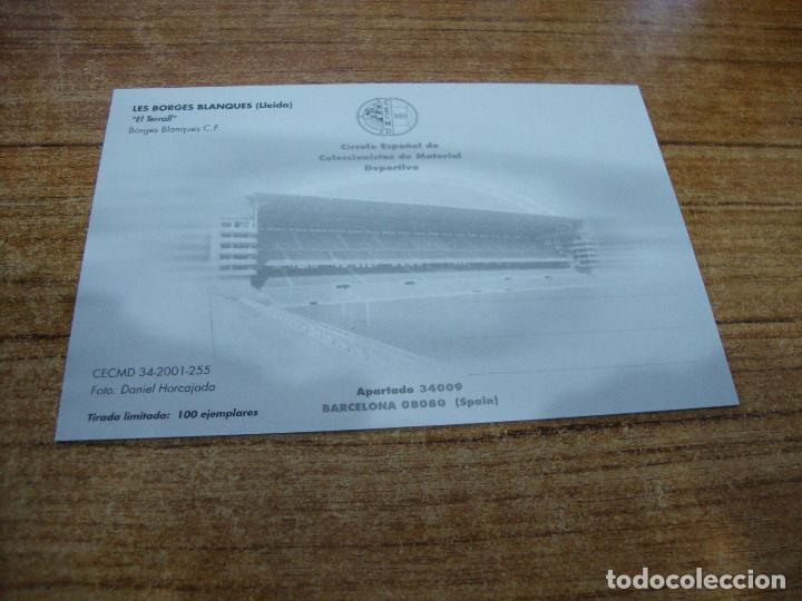 Coleccionismo deportivo: POSTAL CAMPO DE FUTBOL EL TERRALL BORGES BLANQUES C F LES BORGES BLANQUES LLEIDA SIN CIRCULAR - Foto 2 - 251300115