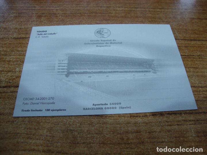 Coleccionismo deportivo: POSTAL CAMPO DE FUTBOL SALTO DEL CABALLO C D TOLEDO TOLEDO SIN CIRCULAR - Foto 2 - 251300475