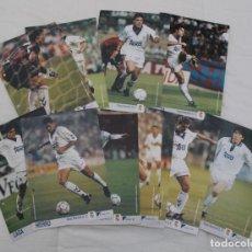 Coleccionismo deportivo: DIARIO 16 COLECCIÓN LOS MEJORES DE LA LIGA 93-94 REAL MADRID. 11 LÁMINAS - FICHAS. Lote 252159025