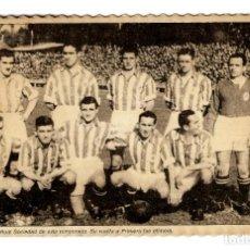 Coleccionismo deportivo: REAL SOCIEDAD DE SAN SEBASTIÁN - EQUIPO AÑOS 40 - FOTO POSTAL - 163X106 - INÉDITA EN TODOCOLECCIÓN. Lote 252784810