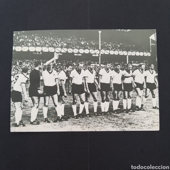 RAREZA TARJETA POSTAL ANTIGUA MUNDIAL FÚTBOL ALEMANIA 1966 MATASELLOS CONMEMORATIVO EP002 (Coleccionismo Deportivo - Postales de Deportes - Fútbol)