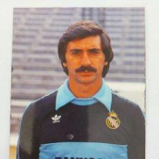 Coleccionismo deportivo: ANTIGUA POSTAL DEL PORTERO MIGUEL ANGEL JUGADOR DEL REAL MADRID - 1982 - PUBLICIDAD DE ZANUSSI EN L. Lote 252852210