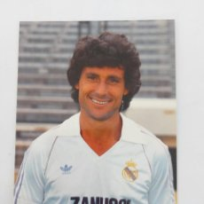 Coleccionismo deportivo: ANTIGUA POSTAL DE ANGEL DE LOS SANTOS JUGADOR DEL REAL MADRID - 1982 - PUBLICIDAD DE ZANUSSI EN LA C. Lote 252852385