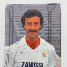 Coleccionismo deportivo: ANTIGUA POSTAL DE VICENTE DEL BOSQUE JUGADOR DEL REAL MADRID - 1982 - PUBLICIDAD DE ZANUSSI EN LA CA. Lote 252852575
