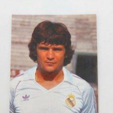 Coleccionismo deportivo: ANTIGUA POSTAL DE CAMACHO JUGADOR DEL REAL MADRID - 1982 - PUBLICIDAD DE ZANUSSI EN LA CAMISETA - FO. Lote 252854175